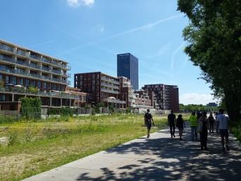 Huidige bouwontwikkeling in de Amstelscheg, het Amstelkwartier.